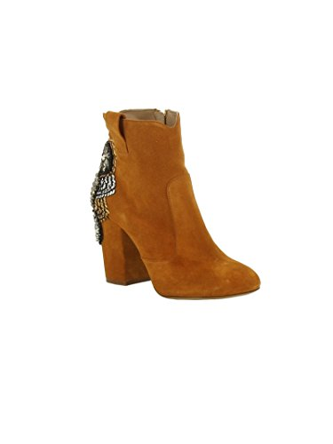 ELENA IACHI FEMME A3307 ORANGE SUÈDE BOTTINES