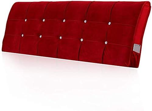 WZBヘッドボードクッションソフトスキンフレンドリーウエストの読みやすいベッドライニング、21サイズ、3色(色:赤、サイズ:160x58x10cm)