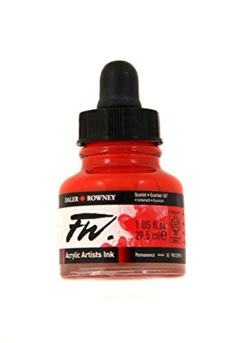 Daler Rowney FW Artists Acrylic Ink 29.5 ML Pot - Scarlet