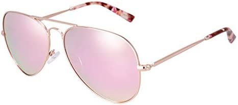 fawova-Chic Rosegold Aviator Sunglasses for Women Polarised with ...