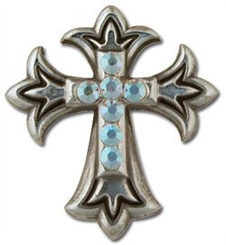 Silver Crystal Endearing Cross - Concho Cross