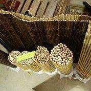 24/26mm 244x244cm goldgelb Bambusrollzaun Rollzaun Bamboo