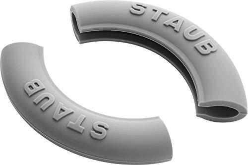 Staub 1190797 – 2 siliconen handgrepen rond, zwart