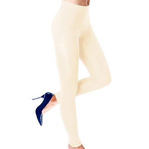 Alta Womens Seamless Body Shaper Premium Stretch Leggings - Ivory S/M ()