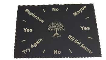 Fortune Telling Toys Pendulum Question and Answer Cloth Mat Tree of Life 8'' x 12''