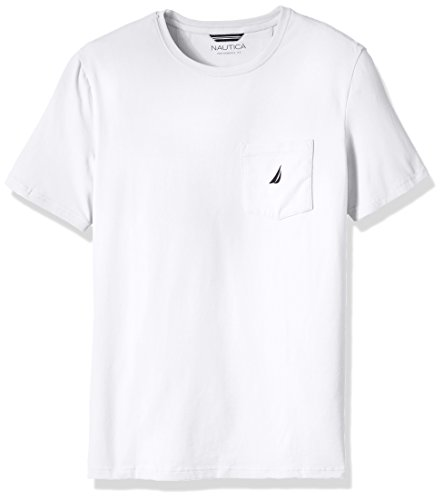 Nautica Men's Big and Tall Solid Pocket T-Shirt, Bright White, 3XLT