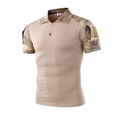 Military Ba Baselayer T-Shirt Athletic Running Rashguard-Ruins Yellow XL