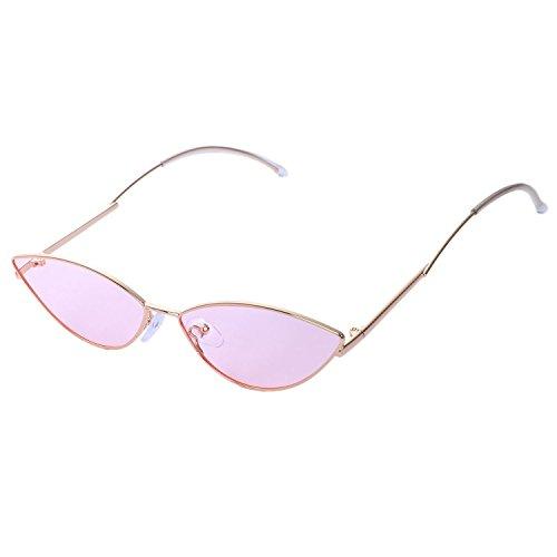 de sol Lindo sexy TOOGOO retro gafas neutral para pequeno de sol accesorios uv400 de neutral de ojo verano rojo ojo gafas rosa rosa gato gato negro 8F0fq8w