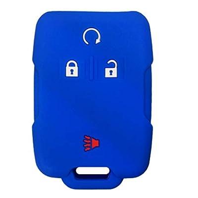 KAWIHEN Silicone Key Fob Case Cover Protector For 2014 2015 2016 2020 Chevrolet Chevy Silverado Colorado Tahoe Suburban Gmc Yukon Sierra 13577770 2288148 M3N-32337100: Automotive