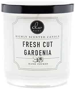 Dw Home Fresh Cut Gardenia Richly Scented Candle Small Single Wick 4 oz.