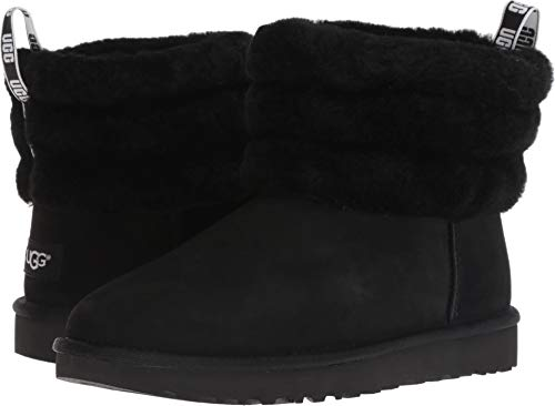 - UGG Women's W Fluff Mini Quilted Fashion Boot Black 8 M US