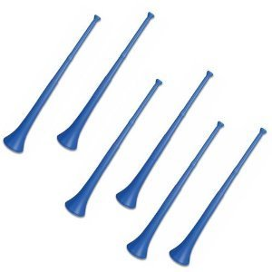 Deedee Vuvuzela - South African Style Collapsible Stadium Horn Blue (Pack of 6)]()