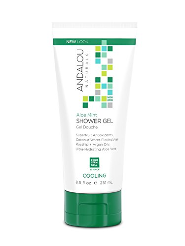Andalou Naturals Aloe Mint Cooling Shower Gel, 8.5 Fluid -