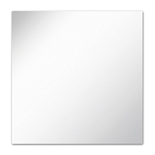 The Better Bevel Frameless Square Wall Mirror with Polished Edge   30-inch x 30-inch   Bathroom, Vanity, Bedroom Square Mirror (Square Big Mirror)