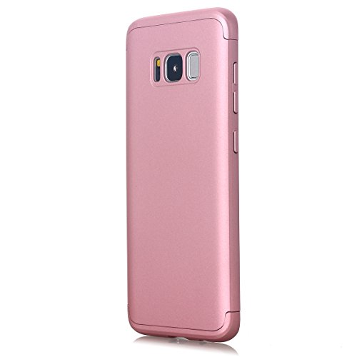 Galaxy S8 Plus Case, AICase 3 in 1 Ultra Thin and Slim Hard PC Case Anti-Scratches Premium Slim 360 Degree Full Body Protective Cover for Samsung Galaxy S8 Plus Case (6.2)(2017) (Rose Gode)