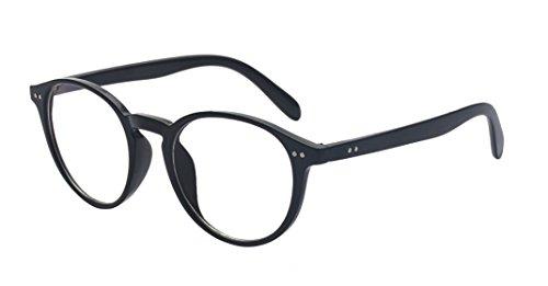 Kelens Retro Vintage Inspired Classic Nerd Round Clear Lens Glasses Eyewear - Mens Glasses Reading Clear