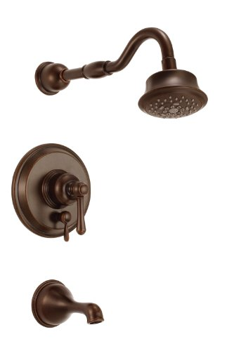 (Danze D502257BRT Opulence Single Handle Tub and Shower Trim Kit, 2.5 GPM, Valve Not Included, Tumbled)