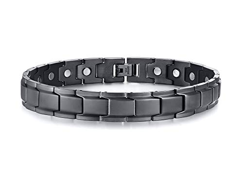 MEALGUET Mens Stainless Steel Magnetic Therapy Anklet Bracelet for Dad Father Husband,Arthritis Pain Relief & Inflammation Reduction for Feet and Ankles (Stainless Steel Magnetic Golf)