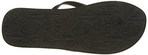 Black Slab white grey Molokai Highline Quiksilver Sandals w4xqBFpI