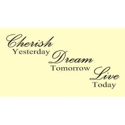 Cherish Yesterday Dream Tomorrow Live Today Vinyl Wall Art