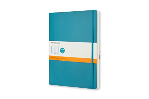"""Moleskine Classic Notebook, Soft Cover, Large (5"""" x 8.25"""") Ruled/Lined, Underwater Blue, 192 Pages"""