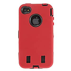 Solid Color Silica Gel Soft Case+Pen+Socket Charger+Car Charger+USB Cable for iPhone 4/4S