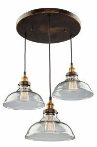 Artcraft Lighting Greenwich 3-Light Pendant, 13-Inch