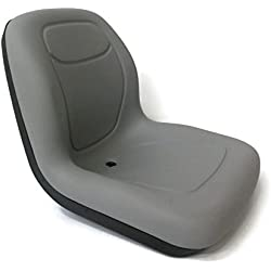 New Grey HIGH BACK SEAT for Cub Cadet Zero Turn Lawn Mower Tractor Made in USA by The ROP Shop