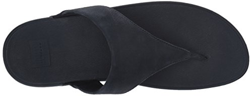 399 Sandalias Navy Azul Lulu Sandals thong Mujer Para Fitflop shimmer Toe midnight check U7xBw6