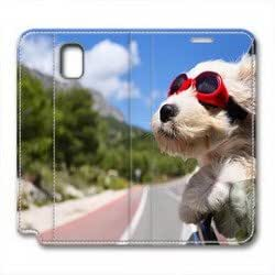 Samsung Galaxy note3 leather case,Riding dog Custom design high-grade leather, leather feel will never fade