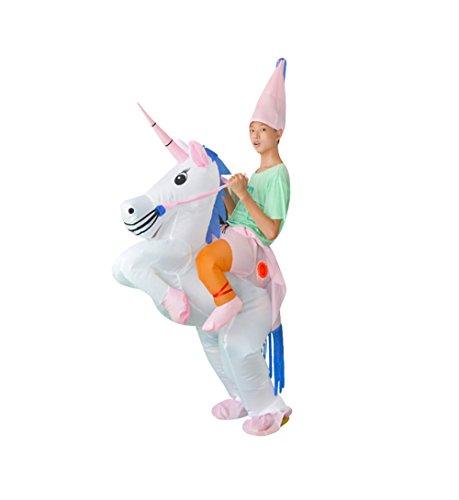 Halloween Unicorn Inflatable costume T-REX Unisex Adult Cosplay Costume (Unicorn)