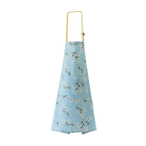 youeneom Adjustable bib Apron with Pockets Extra Long tie, Commercial Grade, Suitable for Both Male and Female Chefs Check Cotton Family Dinner or Party, Indoor or Outdoor -
