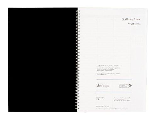 DayMinder Monthly Planner 2015, Wirebound, 7.88 x 11.88 Inch Page Size, Black (SK2-00) Photo #3
