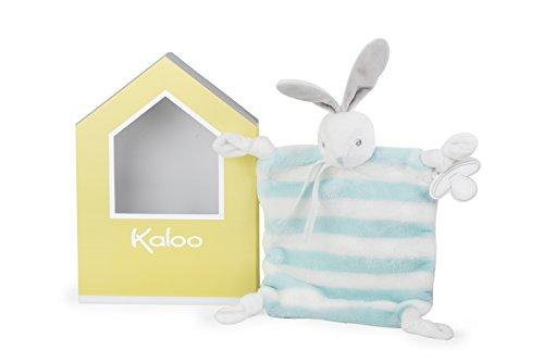 Kaloo Bebe Pastel Doudou Rabbit - Aqua & Cream Plush (Toy Soft Doudou)