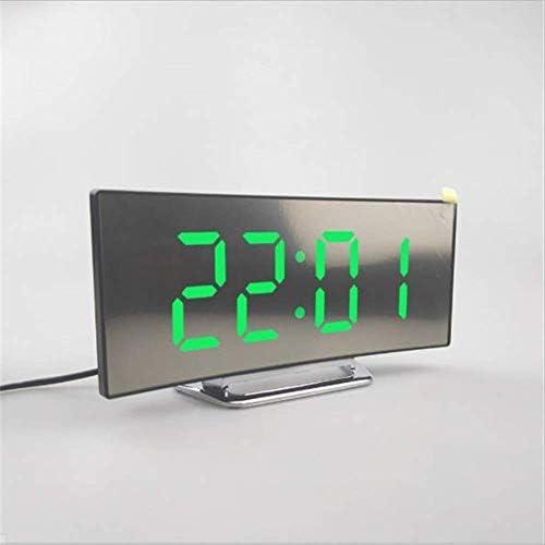 デジタル目覚まし時計Ledミラー時計多機能スヌーズ表示時間夜