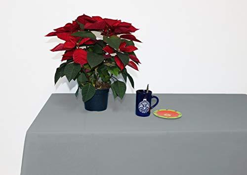 Perfect Textil Mantel Mesa Rectangular Color Liso de Poliester Lavable Ideal para Las Mesas de Buffet Plegables, Mesas de Picnic al Aire Libre y Mesas de Comedor y Cocina (Gris, 150x200cm)