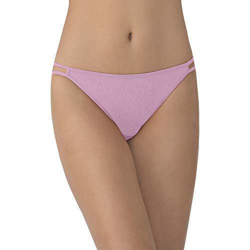 (Vanity Fair Women's Illumination String Bikini Panty 18108, Lightly Lilac, Large/7)