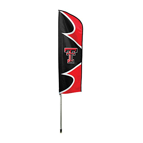 (Party Animal Texas Tech Red Raiders NCAA Swooper Flag and Pole)