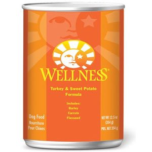 Wellpet Wellness Canned Dog Food for Adult Dogs Turkey & Sweet Potato Recipe 12.5oz cans Canned Food