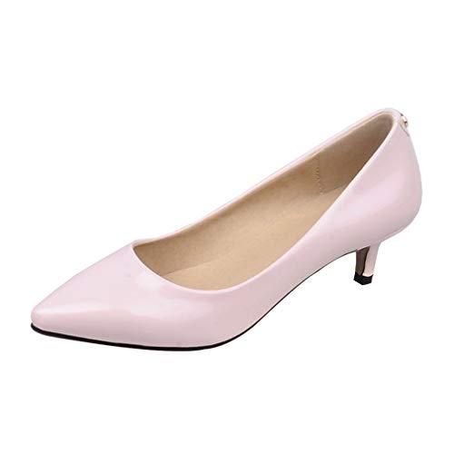 Chaussures Talon Printemps Ete Escarpin Ye Pointu Enfilé Elegant Kitten Petit Rose Aiguille Femme Heels Soiree Vernis Et 7EqxOBqZn