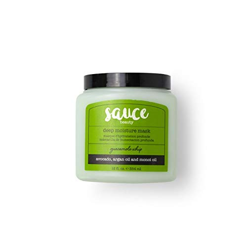 Hair Mask - Sauce Beauty Guacamole Whip Deep Moisture Mask Hair Treatment with Avocado, Jarrah Honey, Argan Oil, and Monoi Oil. Repair Damaged or Dry Hair and Improve Shine and Silkiness