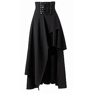 Sorrica Women's Victorian Lolita Skirt Steampunk Vintage Style Skirt