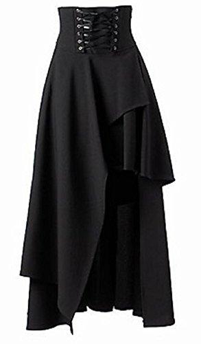 Sorrica Women's Victorian Lolita Skirt Steampunk Vintage Style Skirt 3