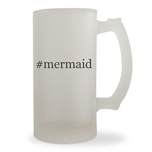 #mermaid - 16oz Hashtag Sturdy Glass Frosted Beer (Girls Magical Mermaid Wig)
