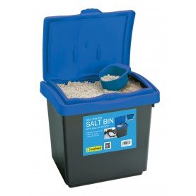30 litre winter grit bin with 10 kg white salt