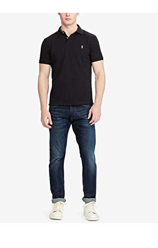 Polo Ralph Lauren Mens Medium Fit Interlock Pony Shirt, Polo Black, Large