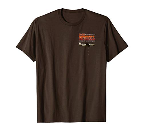B-25 Mitchell On Every Fighting Front WWII T-Shirt 2 Sided ()