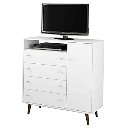 Amazon.com: Hebel Liberty 4 Drawer Media Cabinet with Door ...