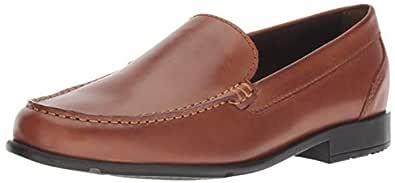 ROCKPORT Men's Classic Lite Venetian Slip-On Loafer- Cognac(Dark Brown)-6.5 W