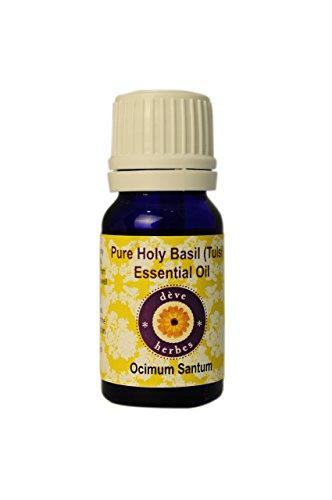 Deve Herbes Pure Holy Basil (Tulsi) Essential Oil - (Ocimum Santum) - 100% Natural - Theraputic Grade 10